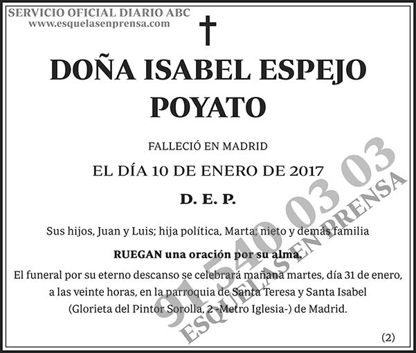 Isabel Espejo Poyato